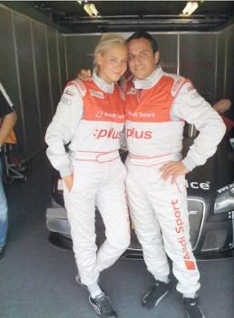 Tiana Pongs & Christian Abt bei der DTM